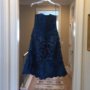 Teri Jon blue cocktail dress (hl)